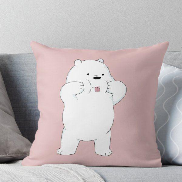 We Bare Bears Ice Bear' Throw Pillow