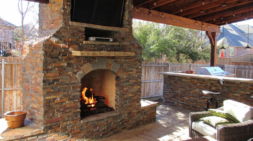 Fireplace Design http://www.TexasbestFence.com #Fireplace #FireplaceDesign