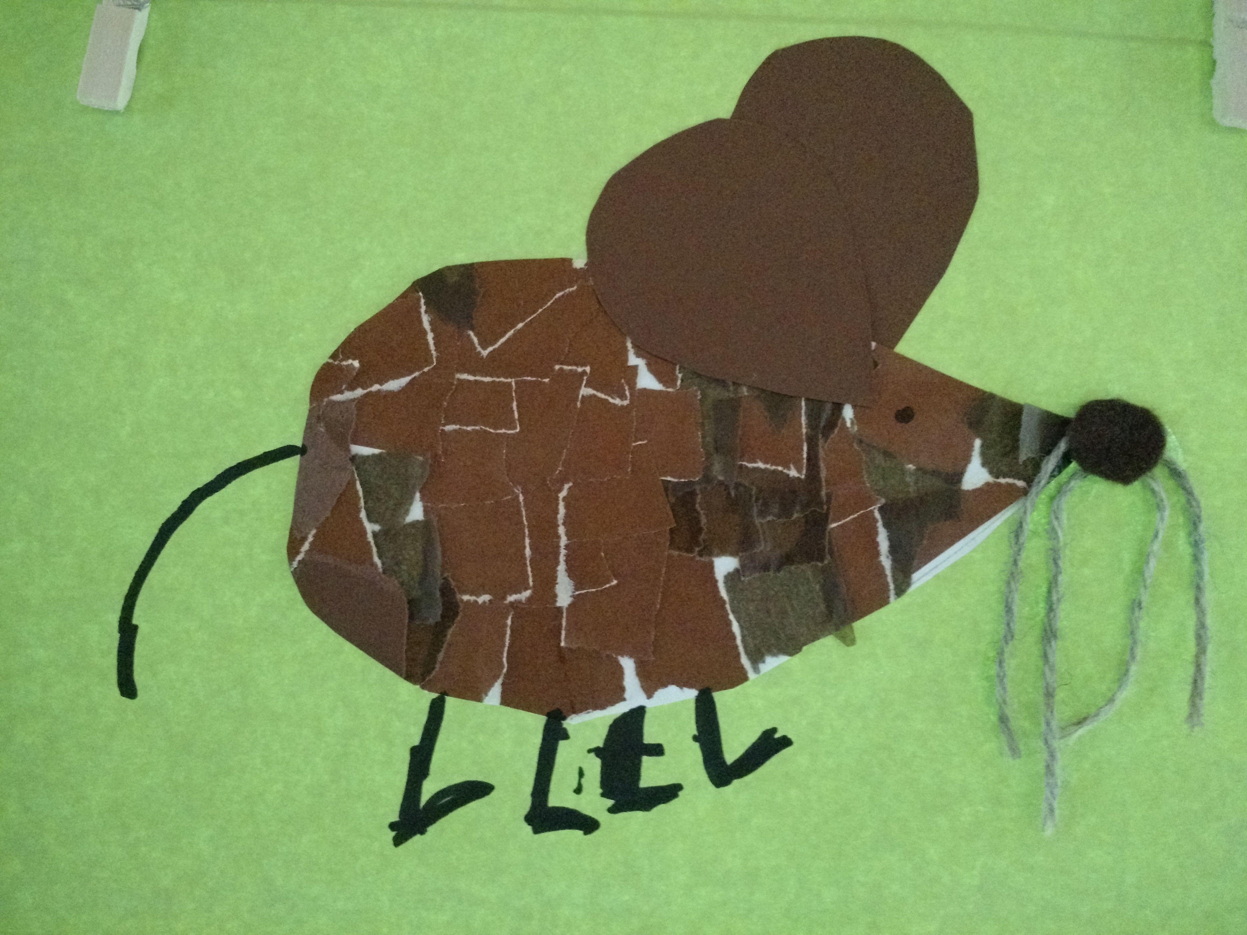 Ein Frederick Aus Den Kinderbuch Mit Der Technik Papier