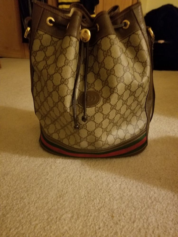 Authentic GUCCI Ophidia GG Bucket Bag  41c53f6efa122