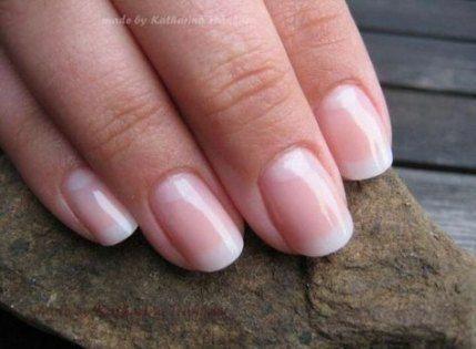 Photo of natural gel nails short