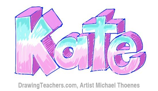 How To Write Katie In Bubble Letters