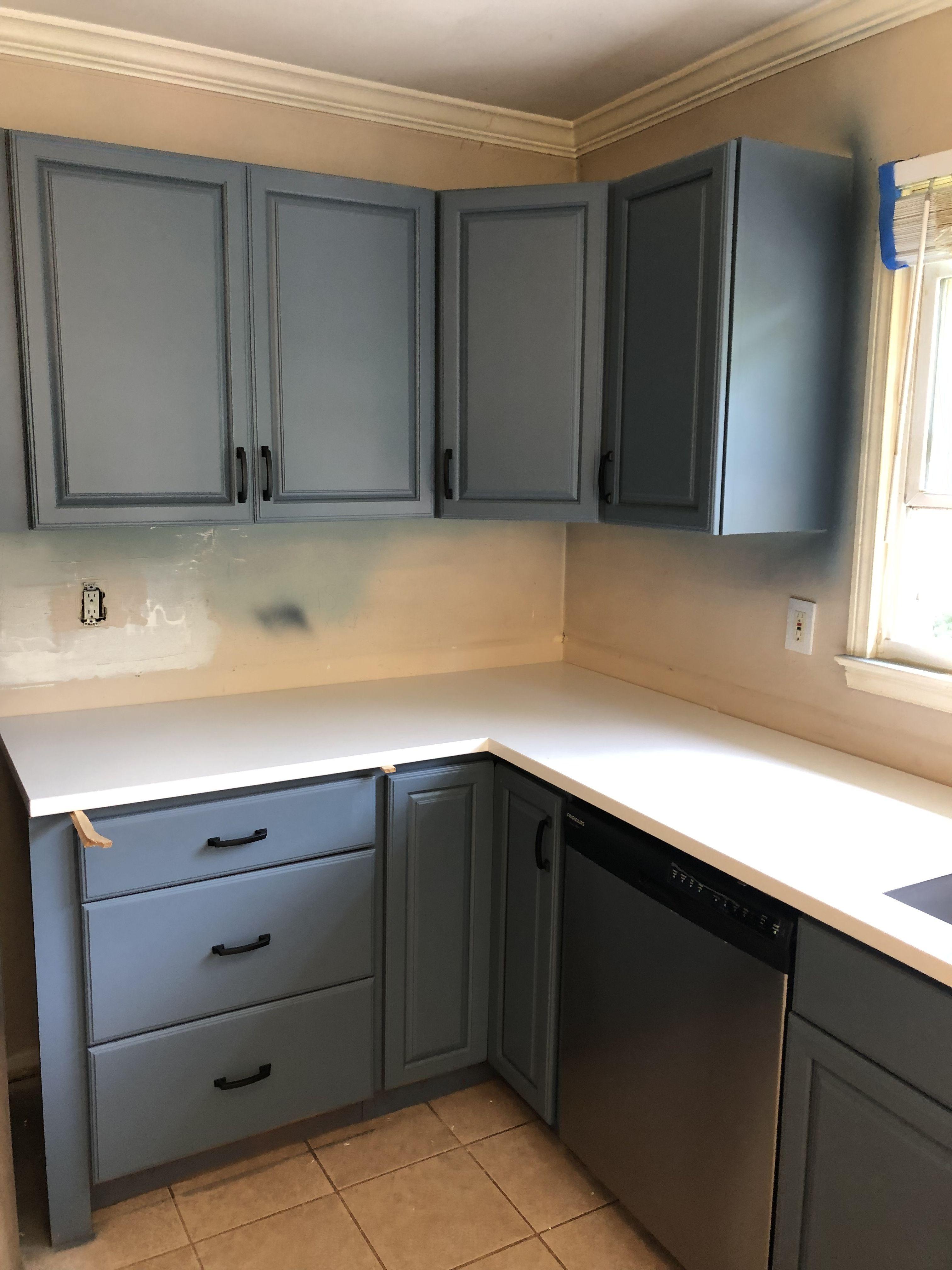Behr Nypd Blue Kitchen Cabinets Blue Kitchen Cabinets Kitchen Cabinets Remodeling Mobile Homes