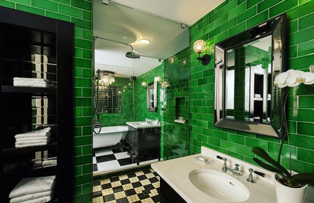 Emerald Green Subway Tile From Heritage Tile Used To Create The