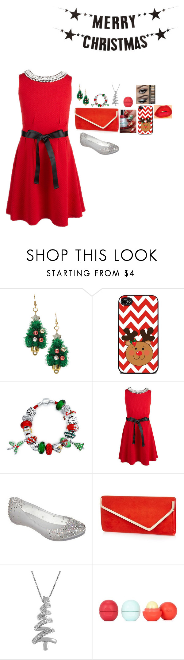christmas | Red christmas dress, Open toe flats and Bling jewelry
