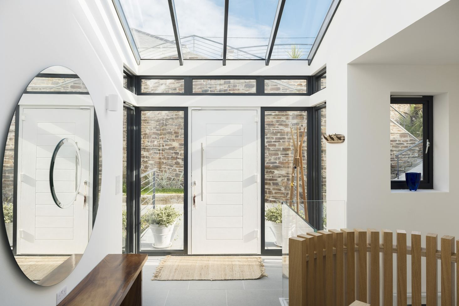 Gwel an treth picture gallery bungalow skylight stone houses doorway