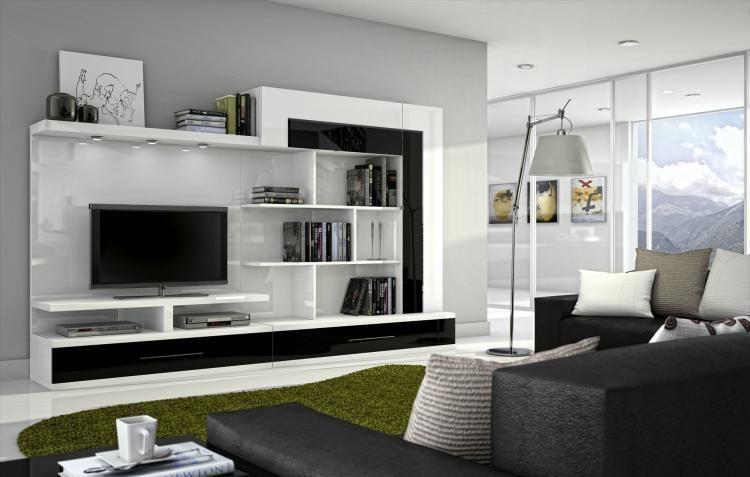 Livinguri moderne din mdf vopsit comoda televizor tv for Mobili living moderni