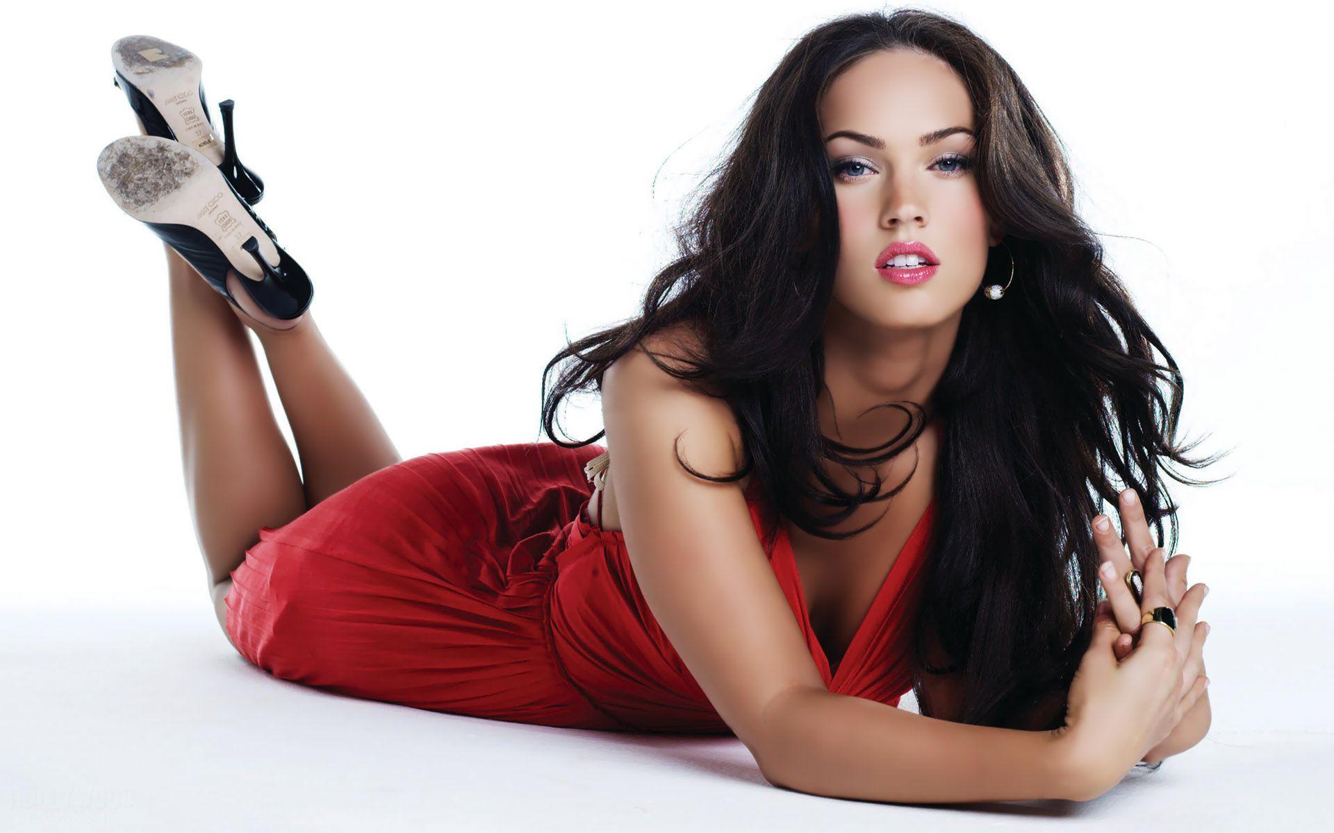 Megan Fox In Red Dress Wallpaper - http://www.gbwallpapers.com ...