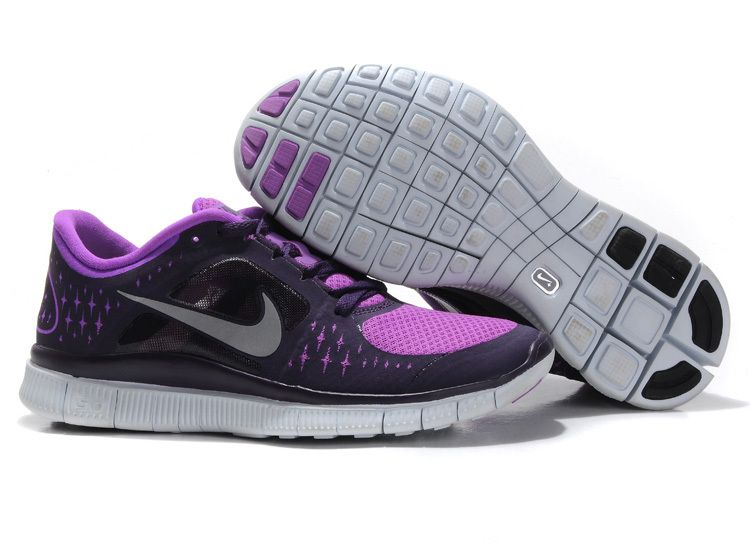 nike free run 3 women's black purple 2013 running shoes