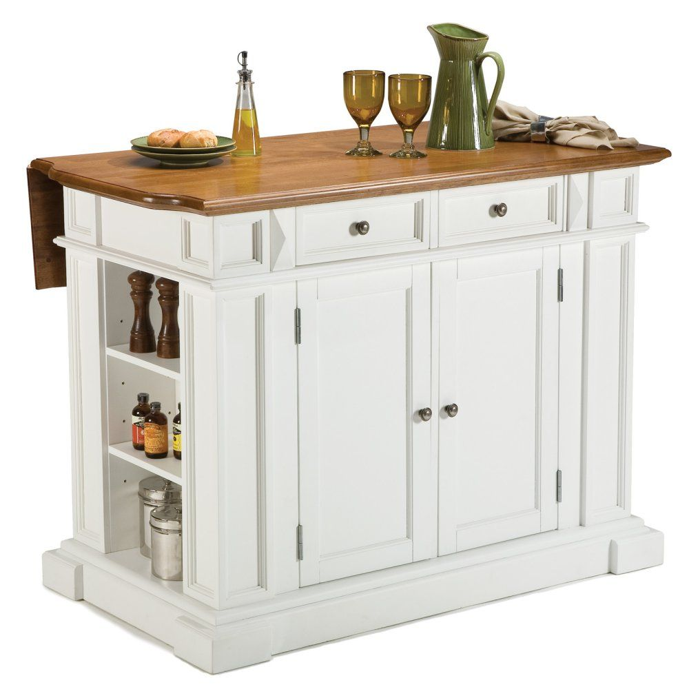 Home styles white and oak finish large kitchen island the new