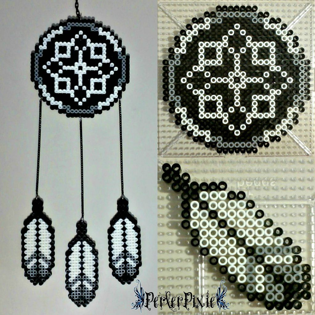 Beaded Dream Catchers Patterns Dream Catcher by PerlerPixiedeviantart on @DeviantArt 32