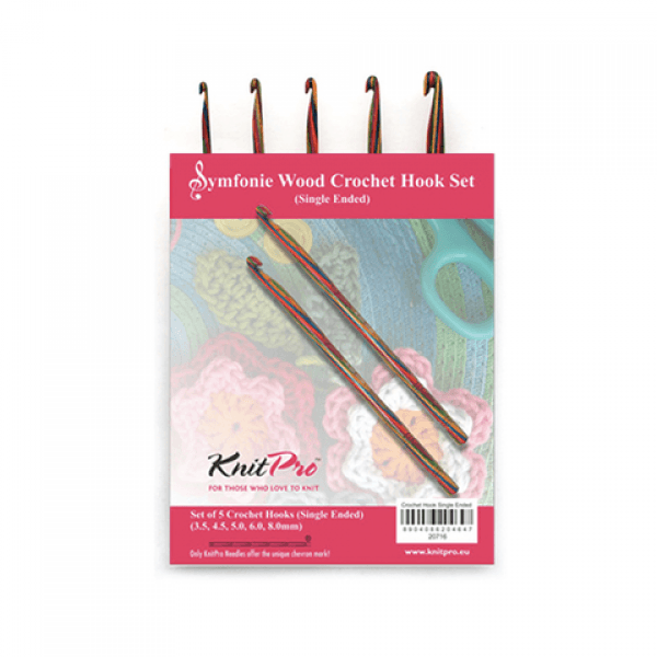 KnitPro Symfonie Crochet Hook Single Ended Knitting Sewing Craft 15cm