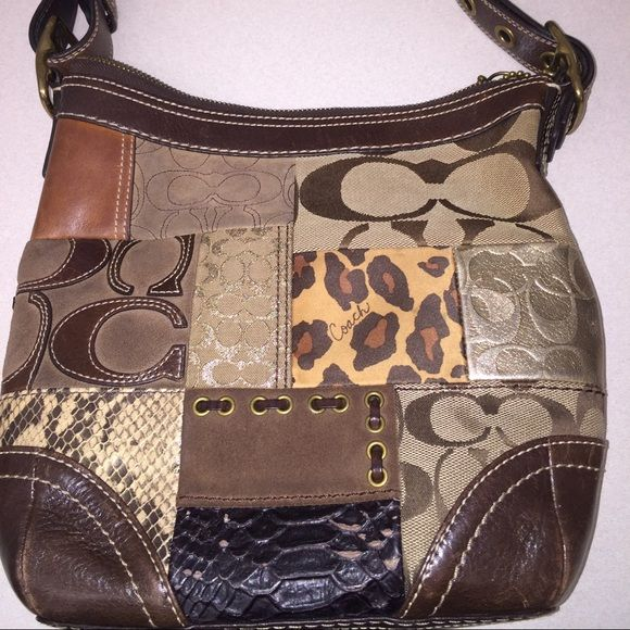 Coach Purse Limited Edition Patchwork Handbag Material  Leather ... ce40c74af1b02