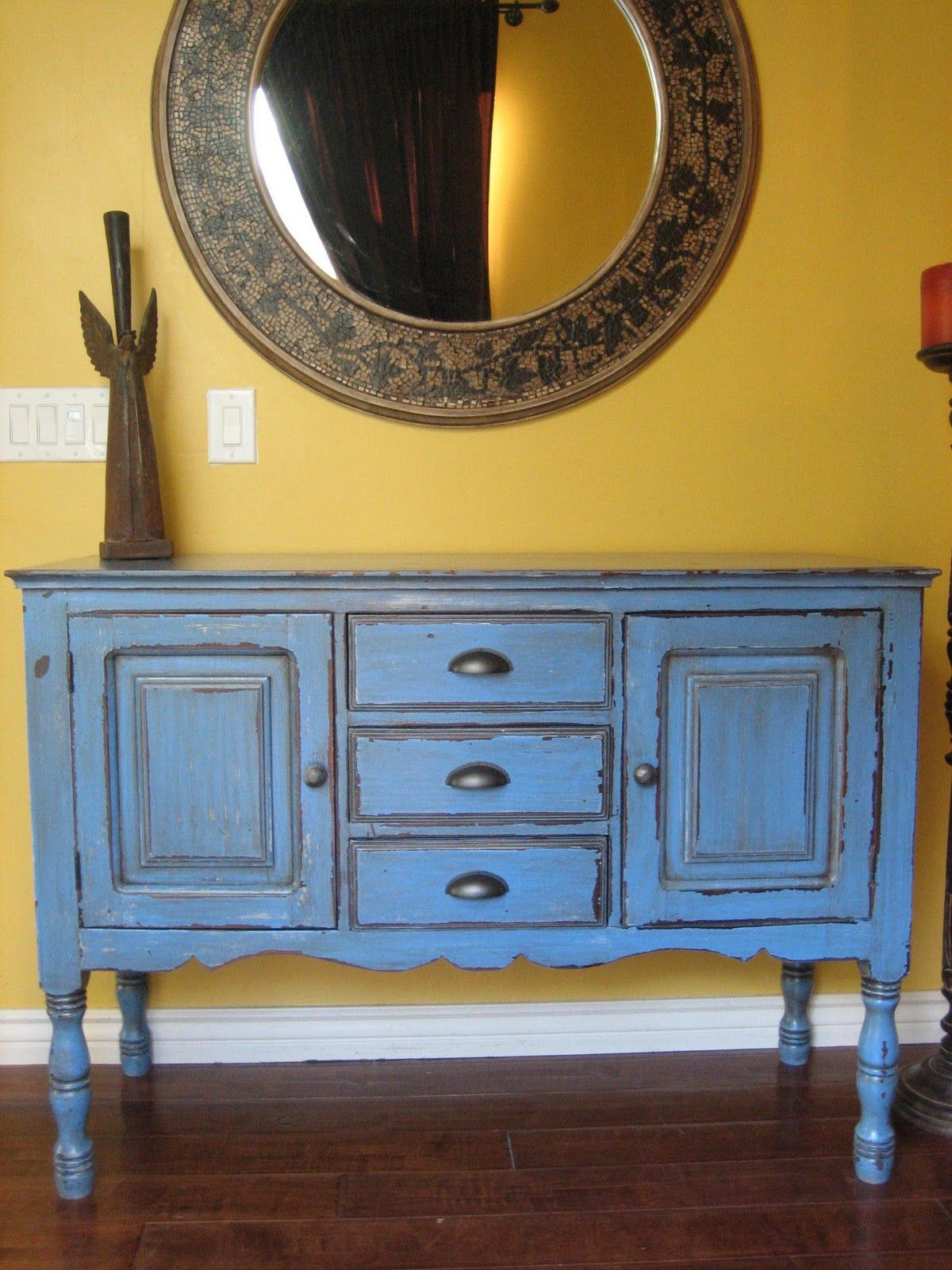 Rustic buffet table furniture - Painted Buffet