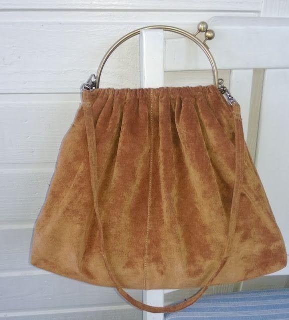 DIY suede leather bag - Mokkanahkalaukku -  Tuunausta ja tekeleitä
