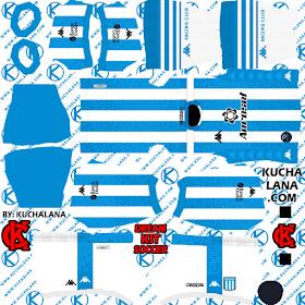 Racing Club Kits Kappa 2020 Dream League Soccer 20 Home In 2020 Kit Soccer Kits Racing