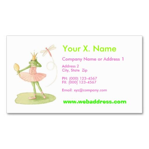 Dance Card Business Card Templates