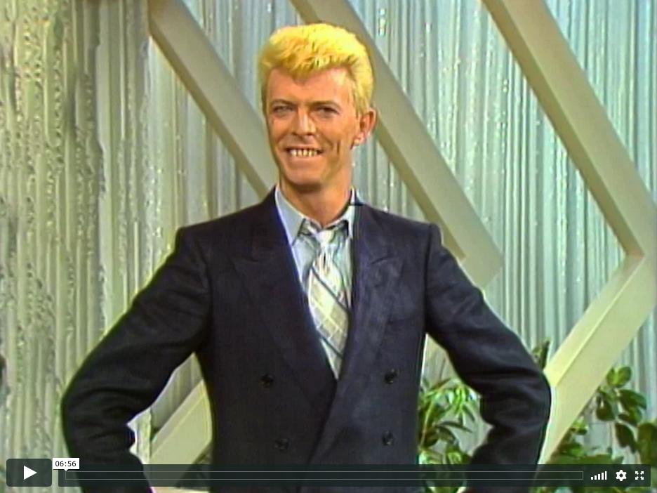 The Don Lane Show 10 November 1983 David Bowie David Bowie Ziggy Bowie