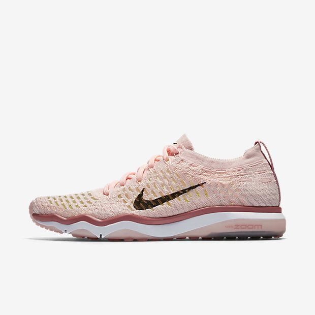 Nike Air Zoom Fearless Flyknit Chrome Blush Women's Training Shoe  #http://shopstyle