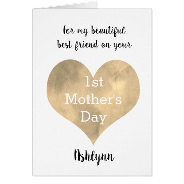 Best Friend 1st Mother S Day Zazzle Com Happy Mothers Day Happy Mothers Day Daughter Mother Day Message