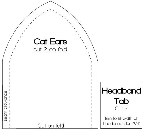 Cat ear template quotable pinterest cat ears template and cat what i used for fox ears template pronofoot35fo Images