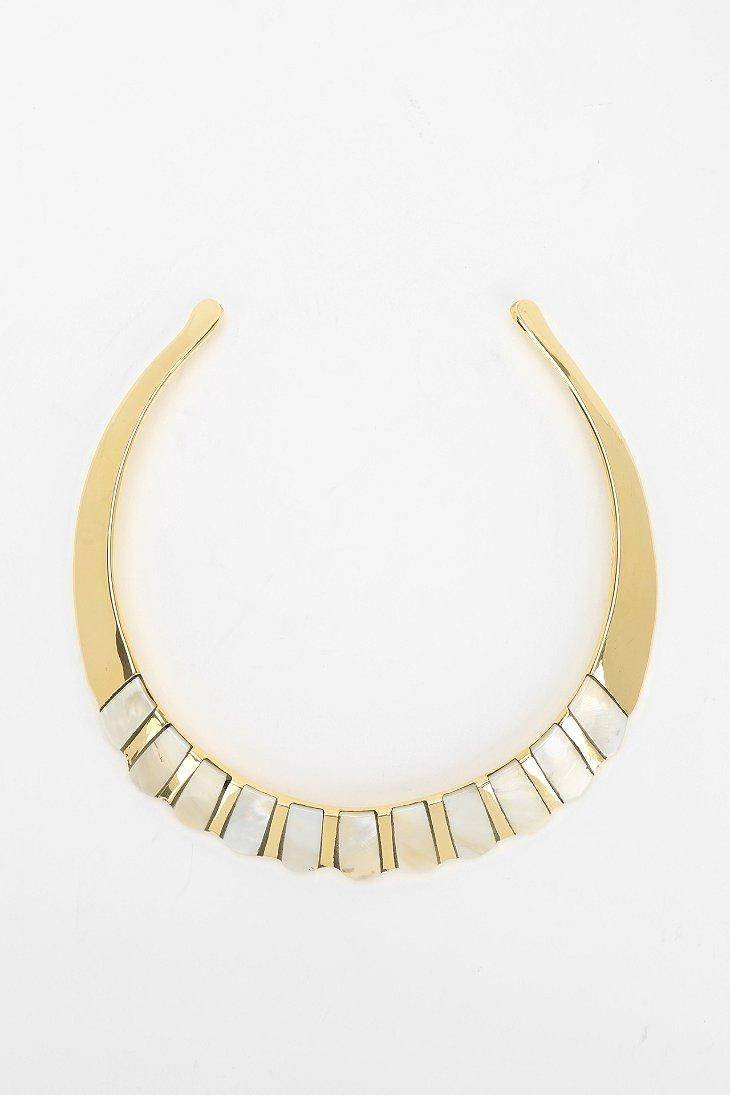 Mother Of Pearl Choker Necklace #urbanoutfitters