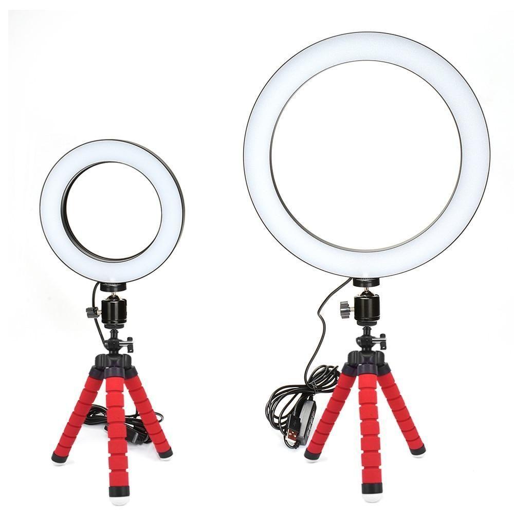 Ring Light Profissional Com Tripe Luz Para Maquiagem Acessorios