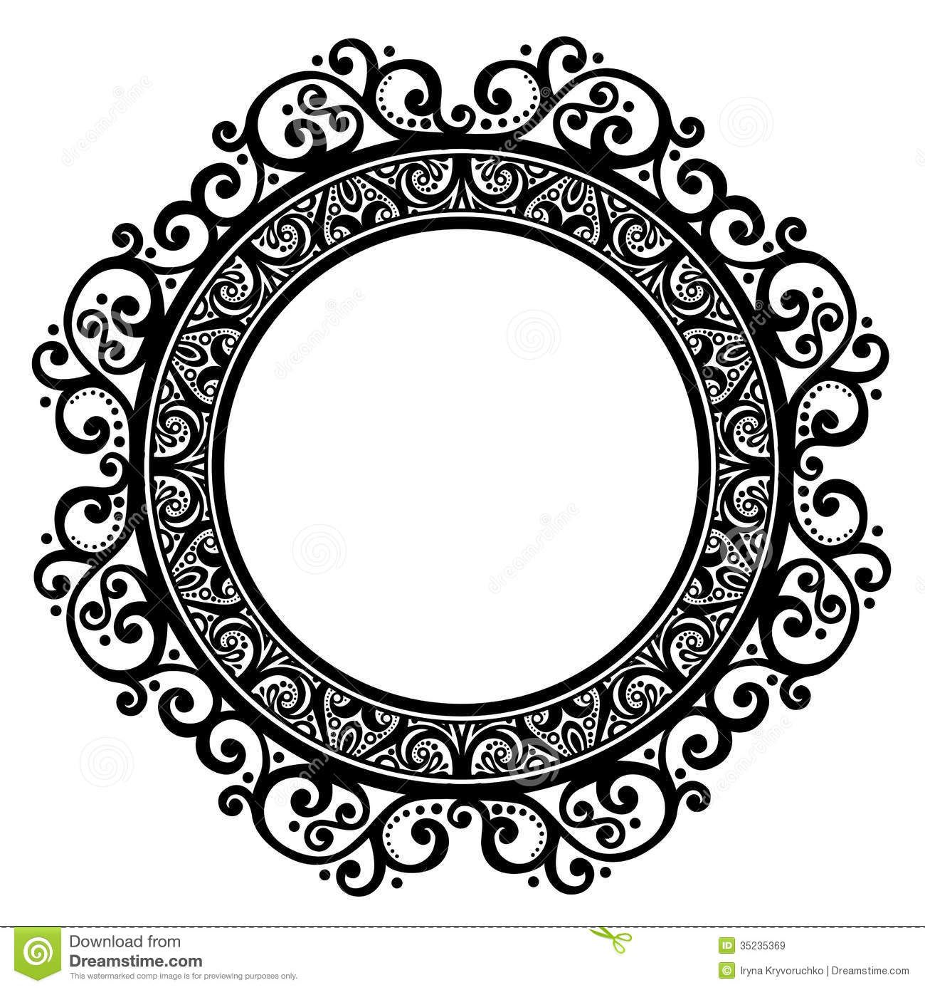 Decorative Round Vector Frames Collection - Download Free Vector ...