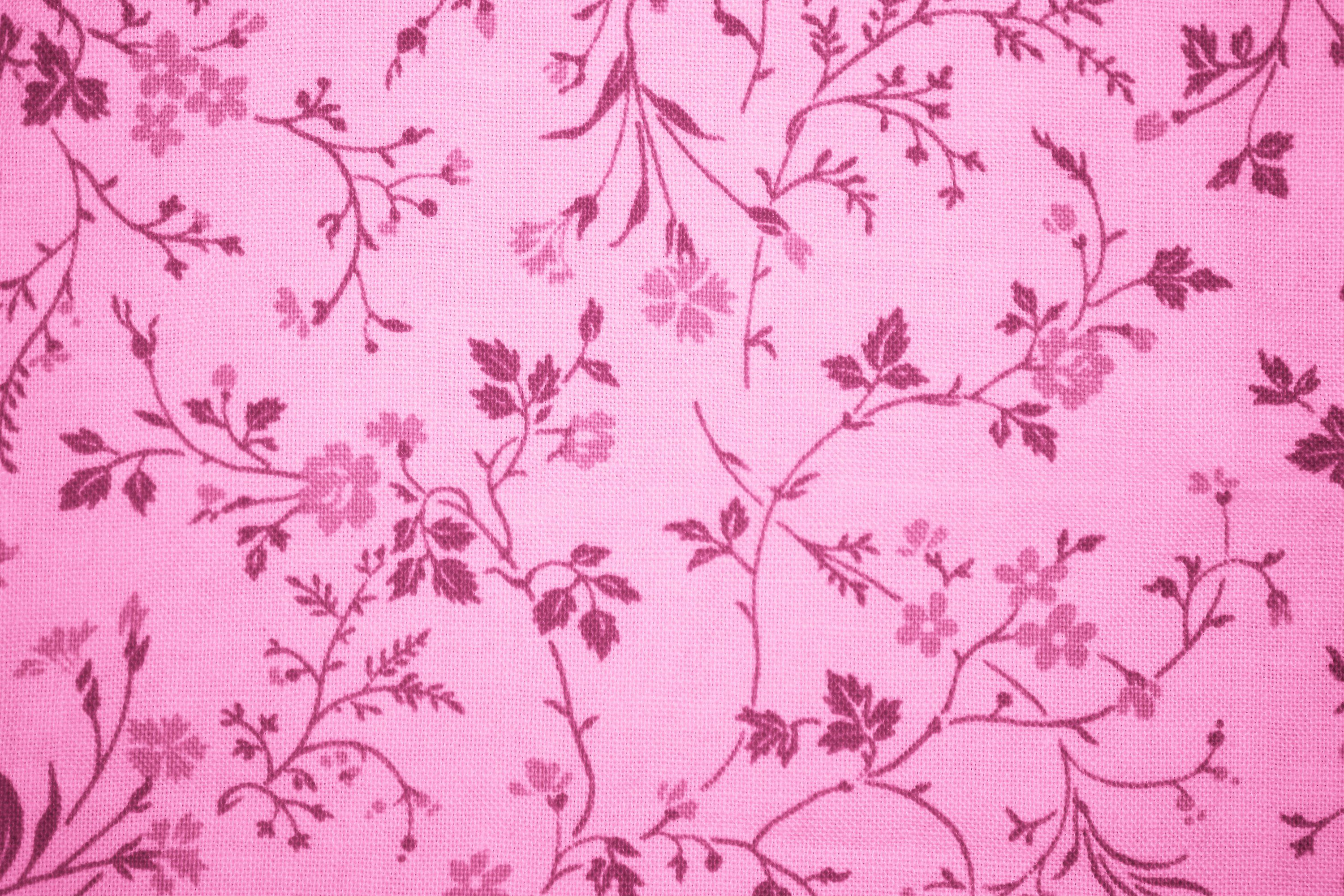 Pink Floral Print Fabric Texture Floral Print Fabric Printing