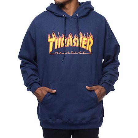Thrasher Skatemag Hoodie Capuche Sweatshirt Black L