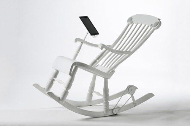 Rock rock rock your way to charging your divice... iRock Chair For Charging Your iPad