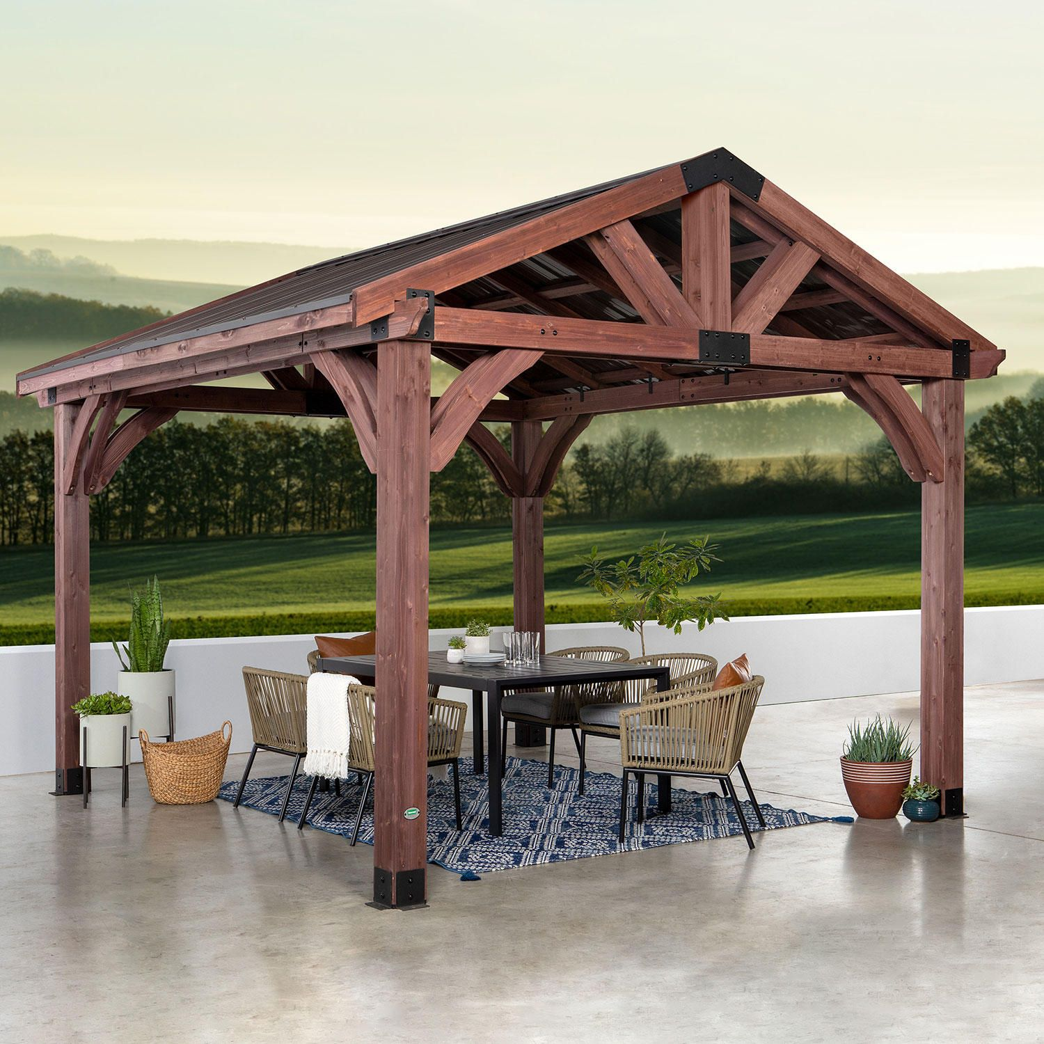 Savannah Pavilion Sam S Club In 2020 Patio Gazebo Backyard Pavilion Wooden Gazebo