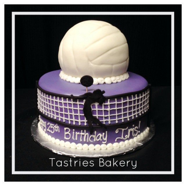 Sensational Volleyball Cake Photo Only Volleyball Cakes Sport Cakes Personalised Birthday Cards Arneslily Jamesorg