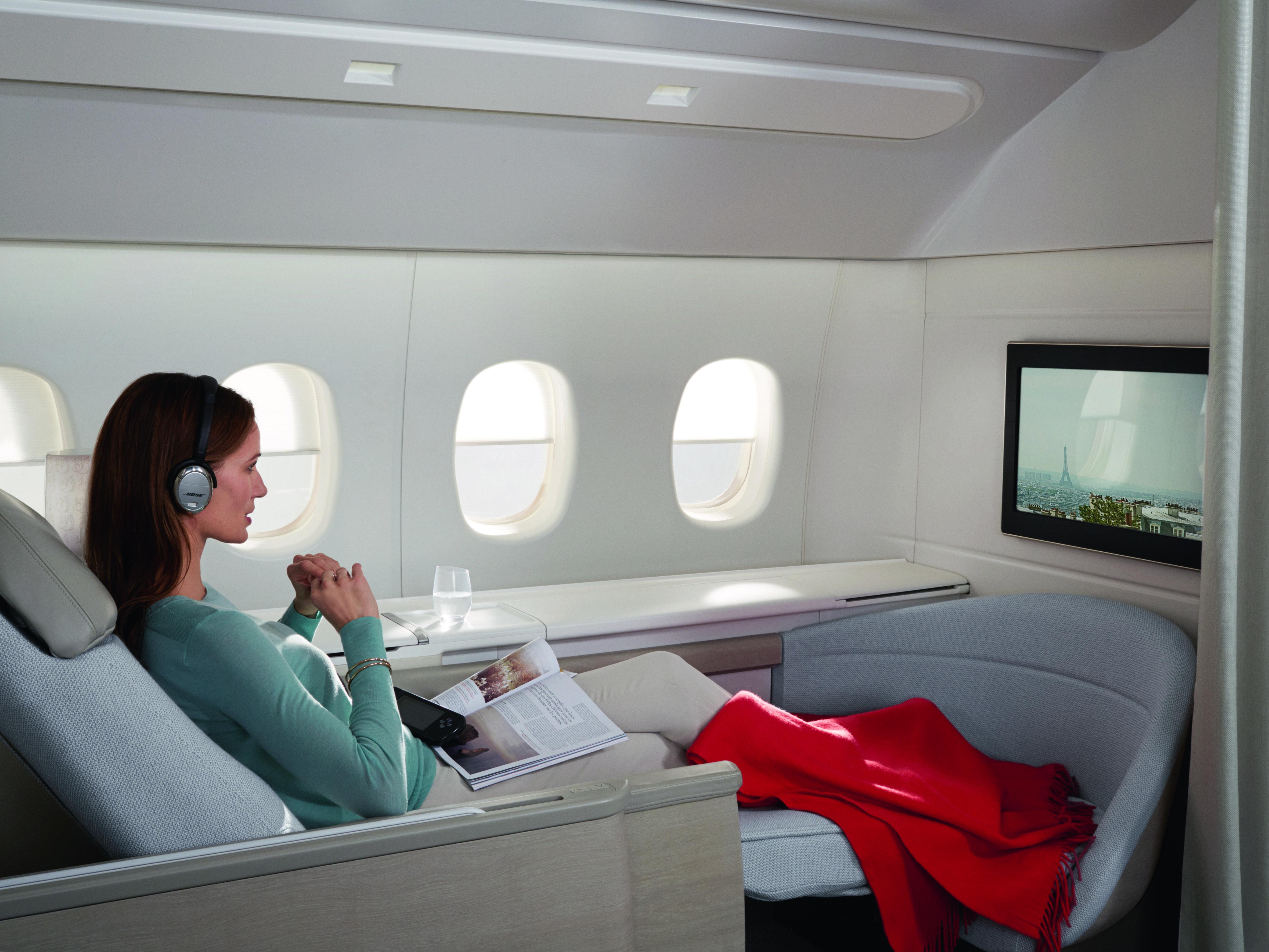 Air France's La Première cabin, composed of 4 private