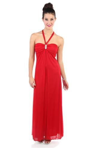 Sweetheart Halter Prom Dress With Long Fly Away Skirt Deb Formal