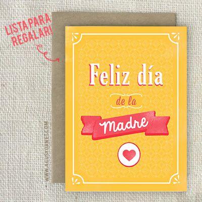 Tarjeta Día de la Madre para imprimir