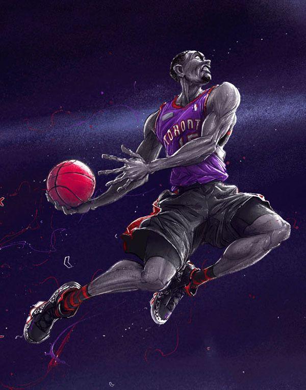 Slam Dunk History By Michal Dziekan Via Behance Nba Art Basketball Art Sports Art