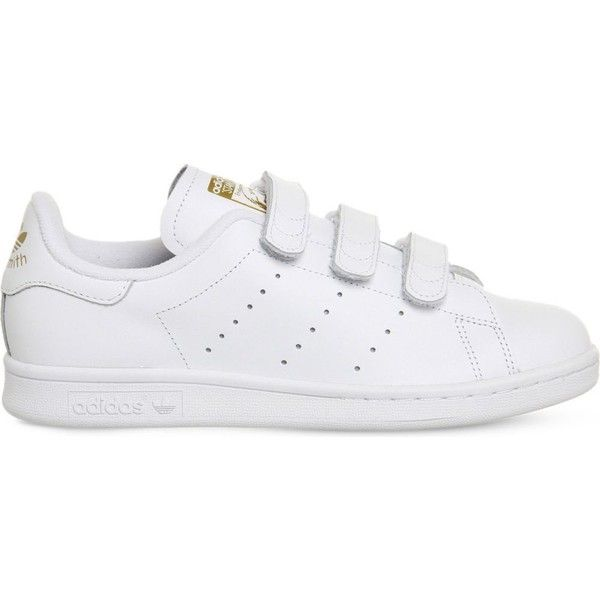 White leather · ADIDAS Stan Smith CF leather trainers (320 PEN) ❤ liked on  Polyvore featuring shoes