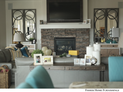 Cozy Cool Browns Blues Brights And Accents And Frames