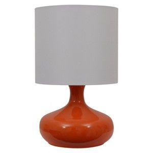 Gourd Shaped Lamp With Shade Orange White Gourd Lamp