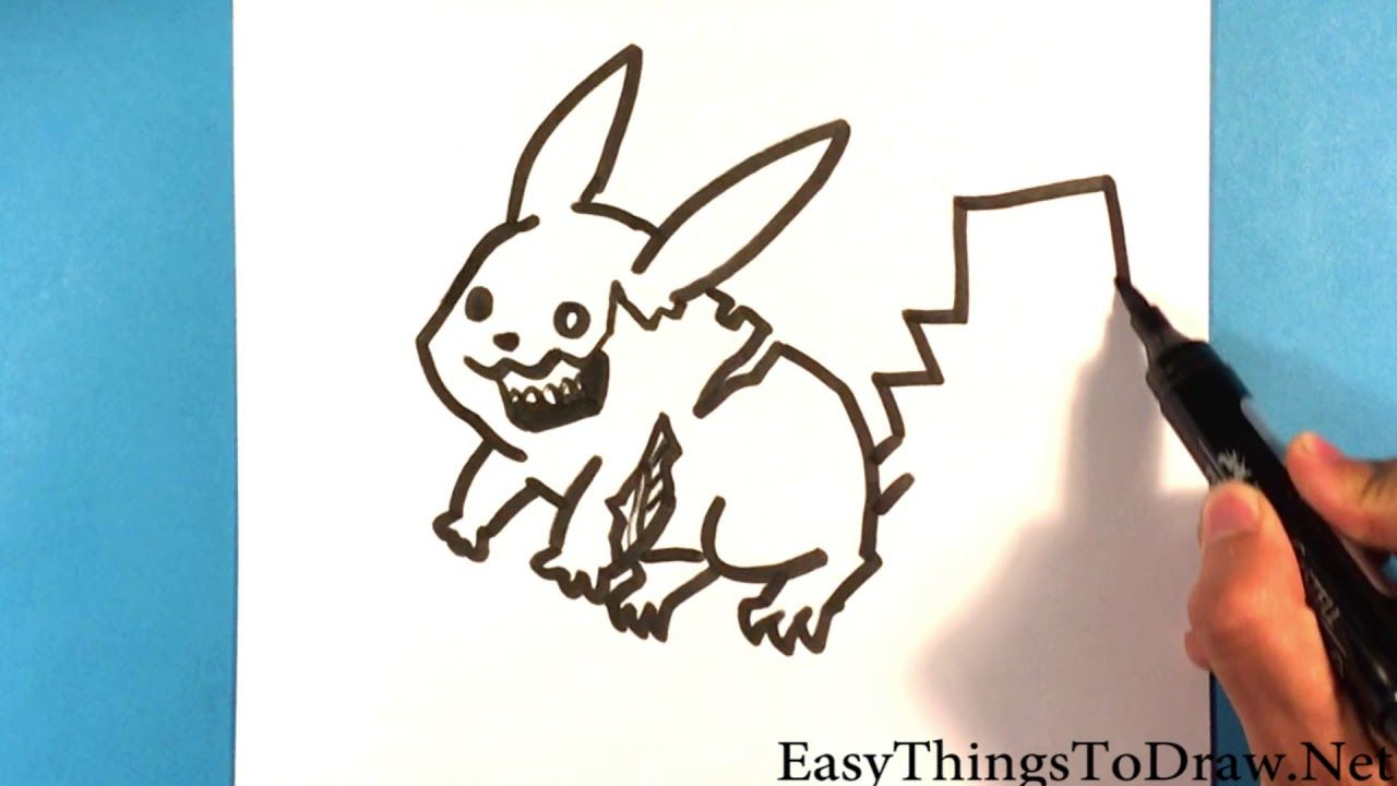 How to Draw Zombie Pikachu - Step by Step - Beginners # ...