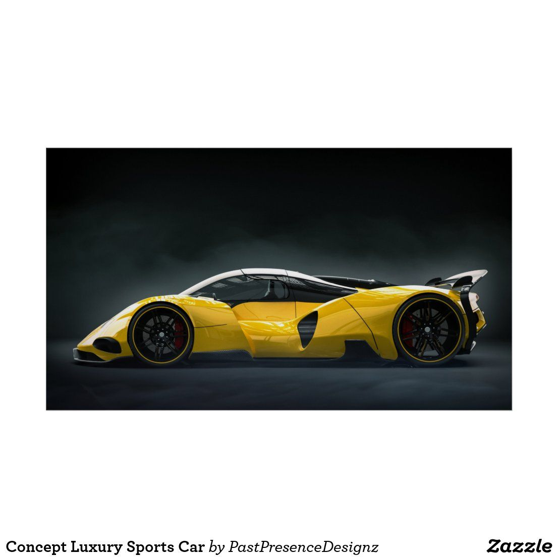 Concept Luxury Sports Car Poster Zazzle Com In 2020 Sports Cars Luxury Car Posters Sports Car