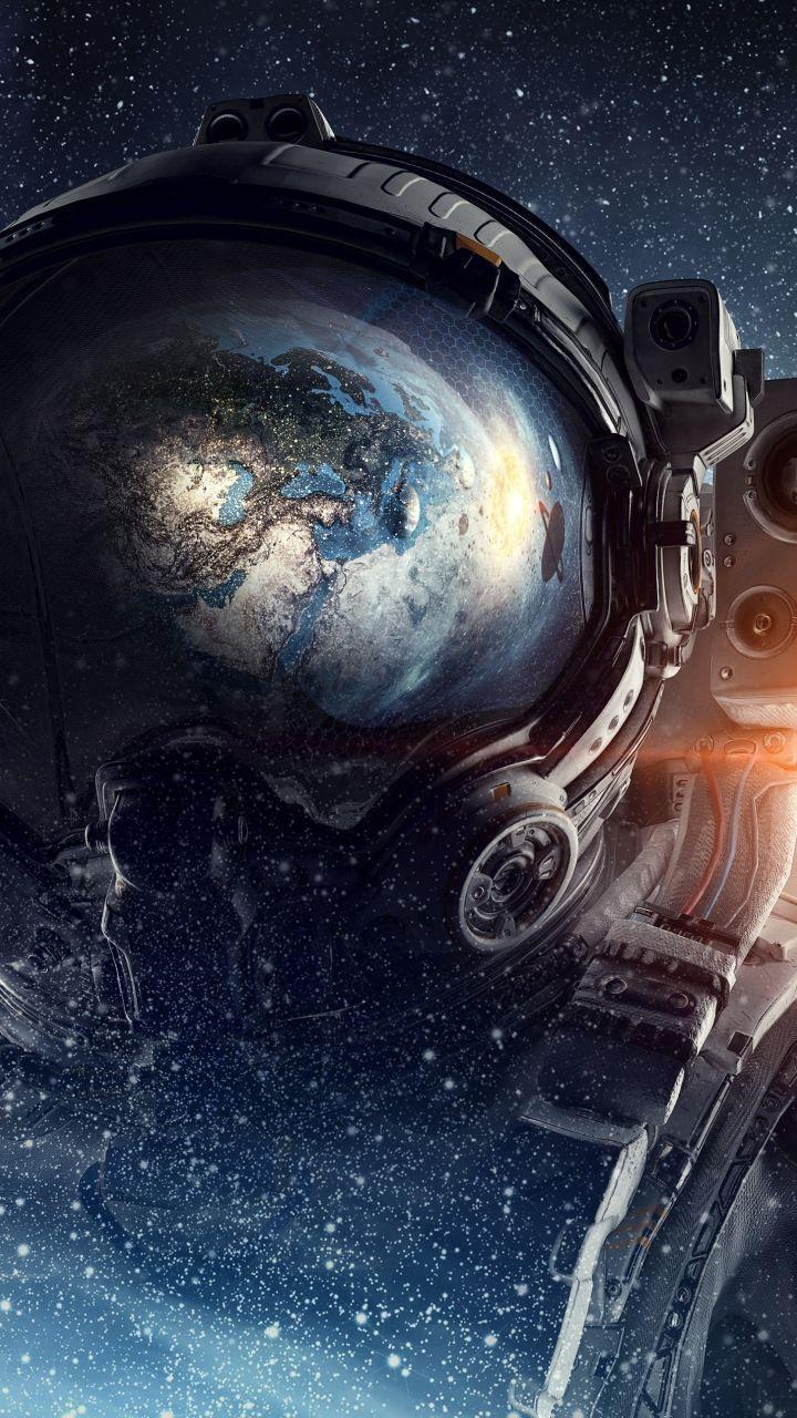 Fantasy Astronaut Space 720x1280 Wallpaper Papel De Parede De