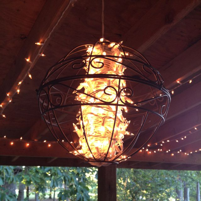 DIY Outdoor Chandelier Less Than Ten Dollars. I See Two