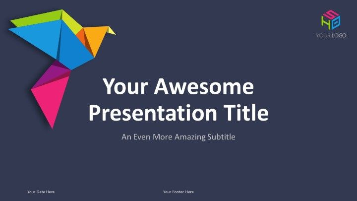 origami creative powerpoint template powerpoint templates
