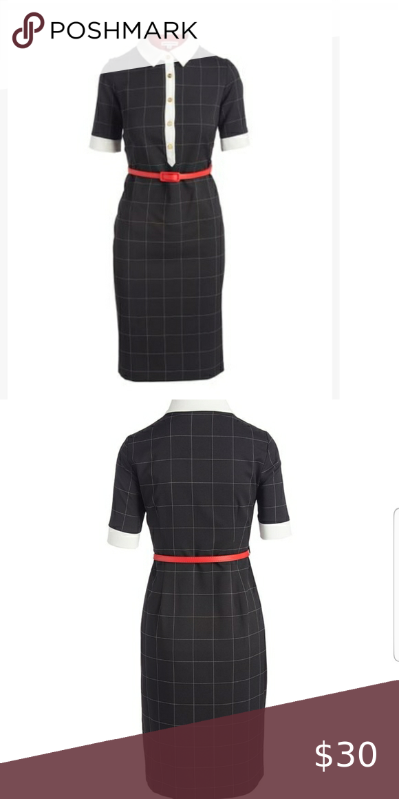 Shelby Palmer Black And White Collared Dress Collar Dress Dresses Shelby Palmer