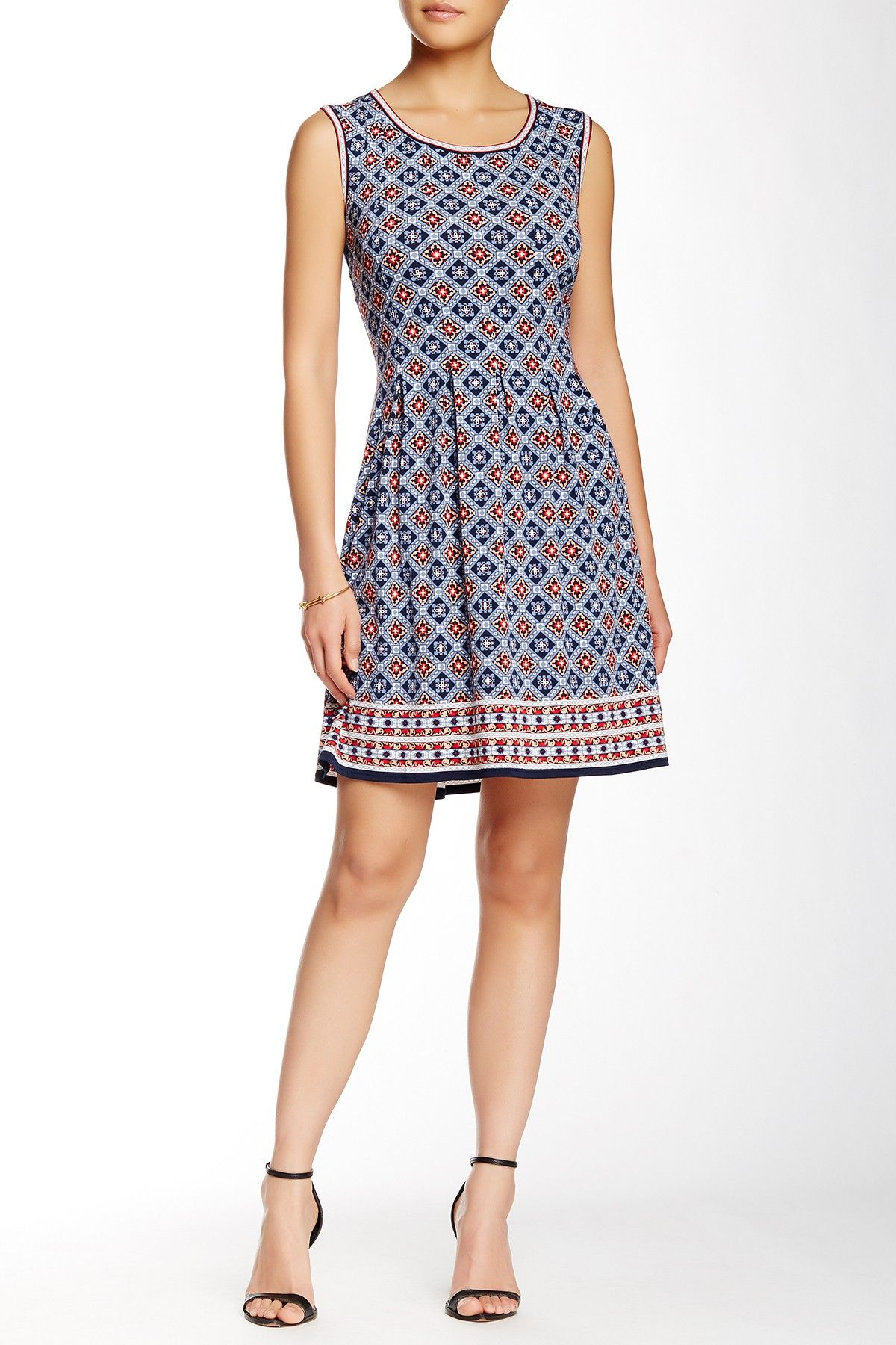 4e08692a3c2d Max Studio - Print Fit & Flare Dress at Nordstrom Rack. Free Shipping on  orders over $100.