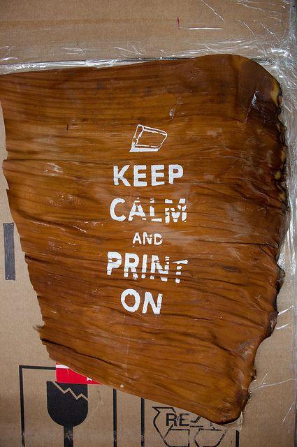 bananas silkscreen print  http://www.tind.gr/silkscreen/banana-leaves/