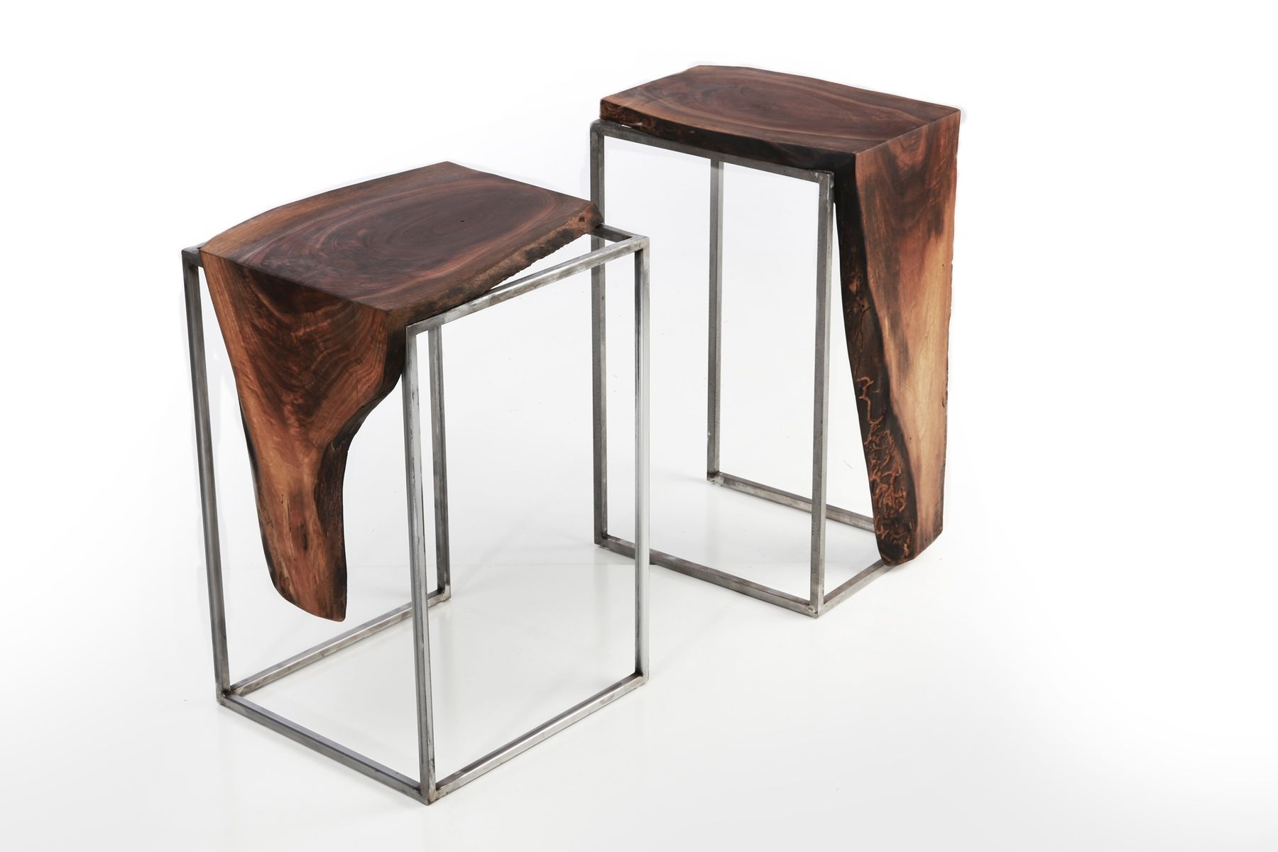 Best Custom Made Side Table Solid Black Walnut Top With Metal 400 x 300