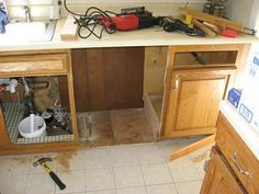 Installing dishwasher in existing cabinets | home remodel ...